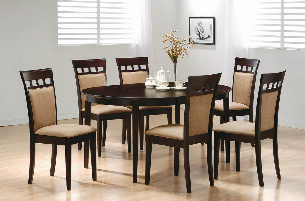 Gabriel Casual Beige and Cappuccino Dining Chair - What A Room Furniture