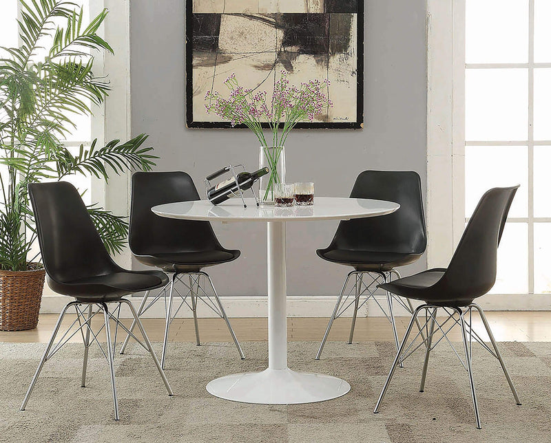 Lowry Contemporary Black Dining Chair - What A Room Furniture