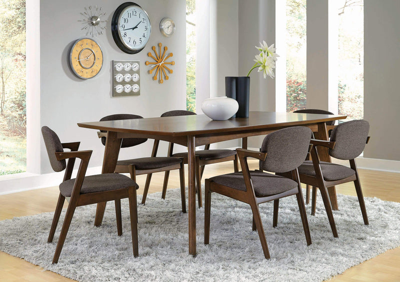 Malone Mid-Century Modern Dark Walnut Dining Chair - What A Room Furniture