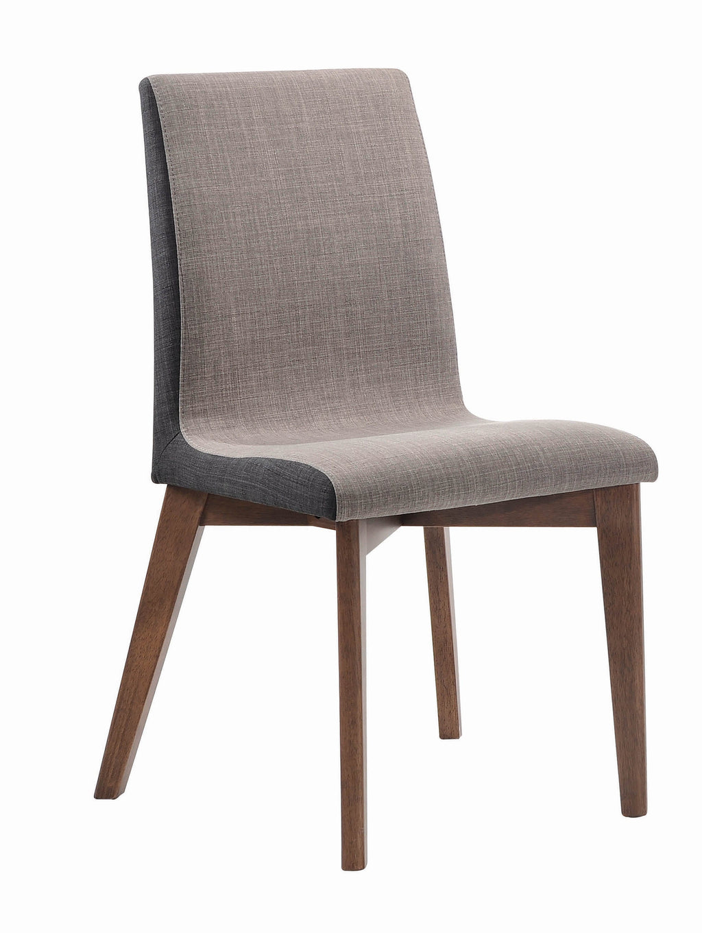 Redbridge Mid-Century Modern Natural Walnut Dining Chair - What A Room Furniture