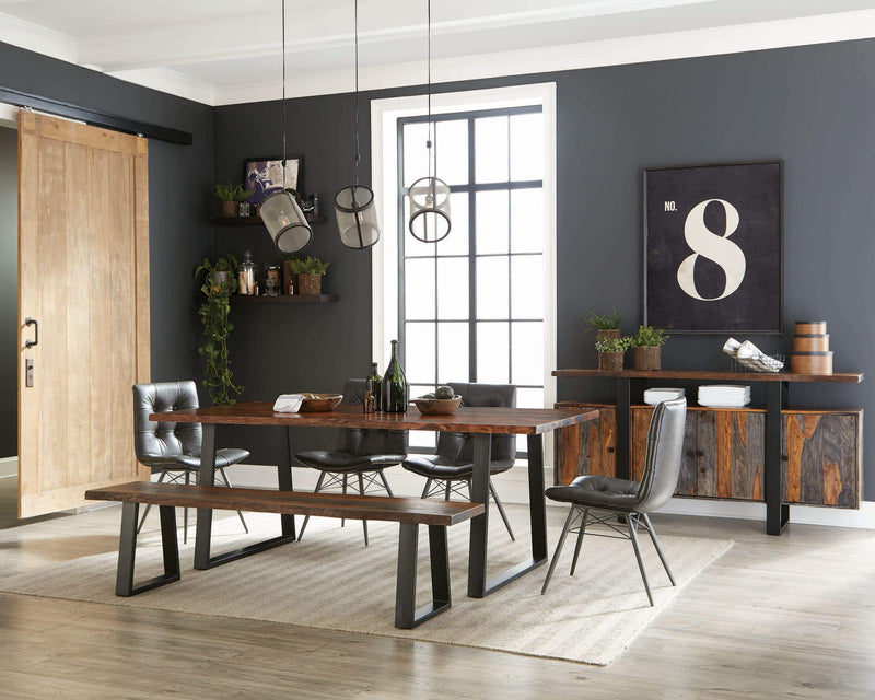 Scott Living Hutchinson Industrial Grey Dining Chair - What A Room Furniture