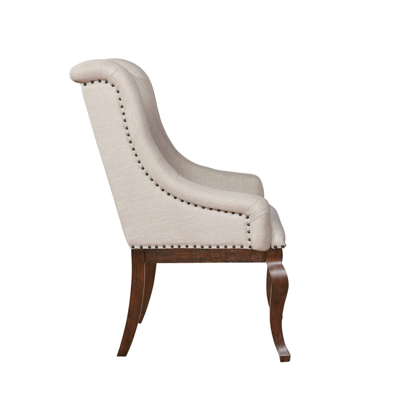 Scott Living Glen Cove Traditional Cream Arm Chair