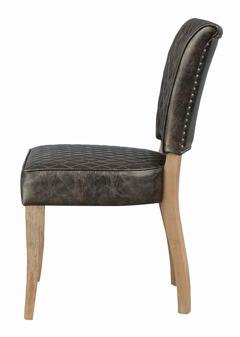 Scott Living Contemporary Rustic Amber Dining Chair - What A Room