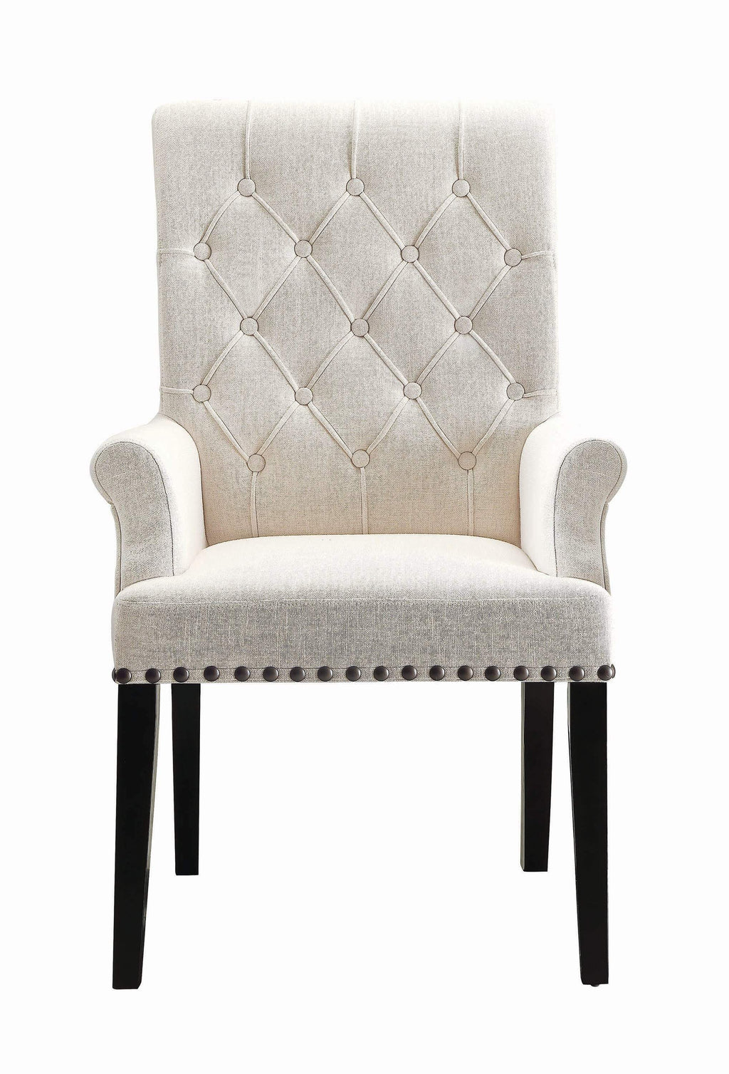 Parkins Cream Upholstered Dining Arm Chair - What A Room