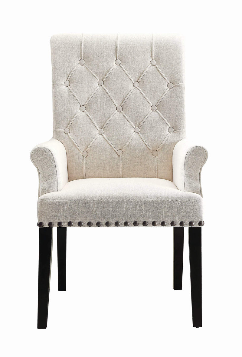 Parkins Cream Upholstered Dining Arm Chair - What A Room Furniture