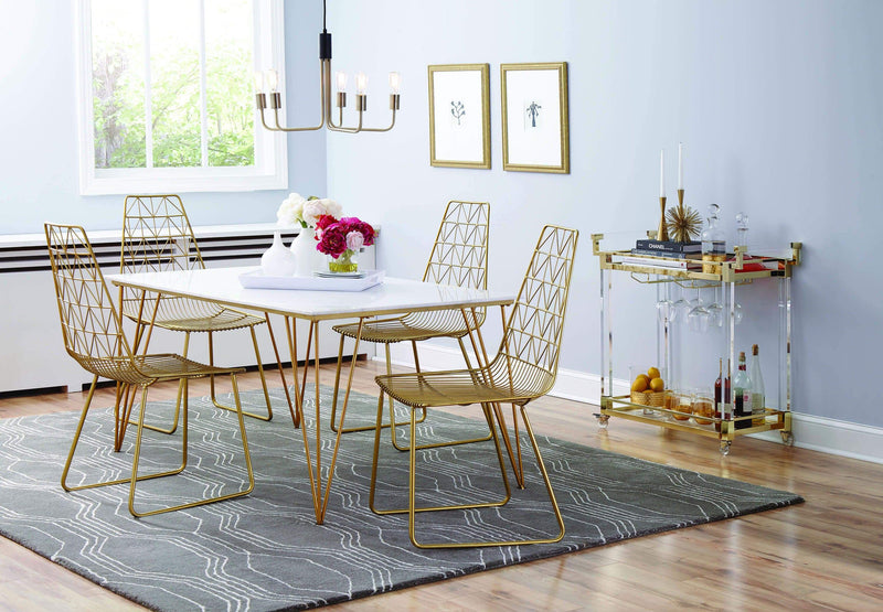 Anastasia Dining Chairs Gold - What A Room Furniture