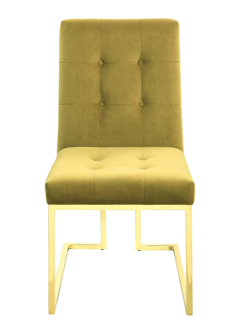 Scott Living Modern Mustard and Gold Dining Chair - What A Room Furniture