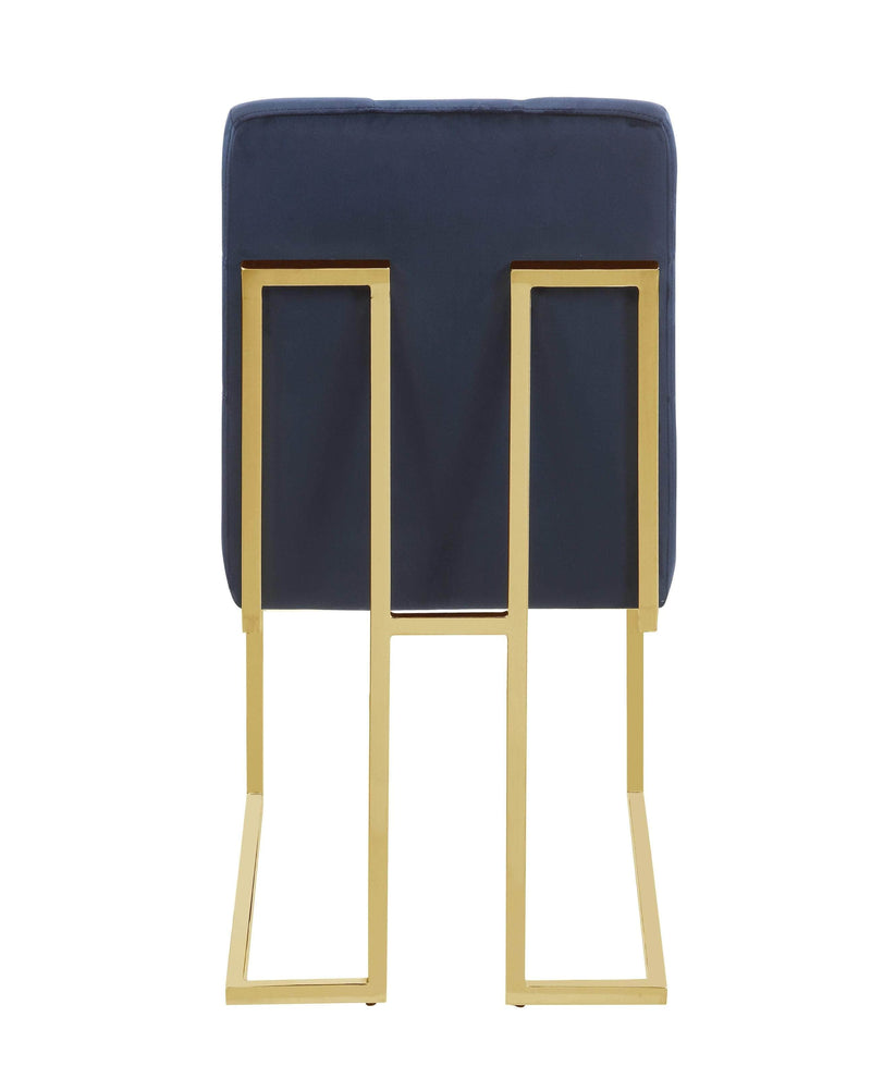 Scott Living Modern Ink Blue and Gold Dining Chair
