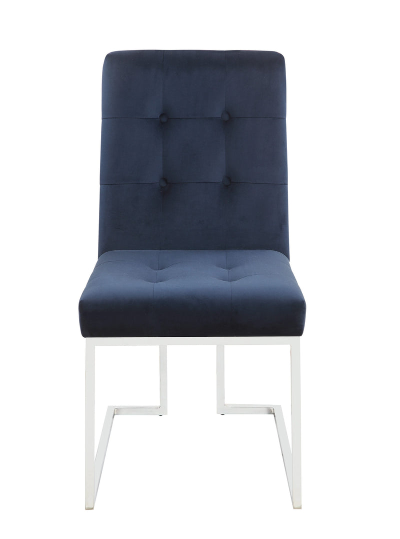 Scott Living Modern Ink Blue and Chrome Dining Chair