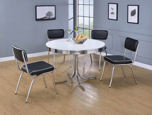 Retro Collection Chrome Dining Chair - What A Room