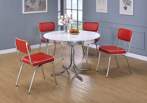 Retro Red and Chrome Dining Chair - What A Room