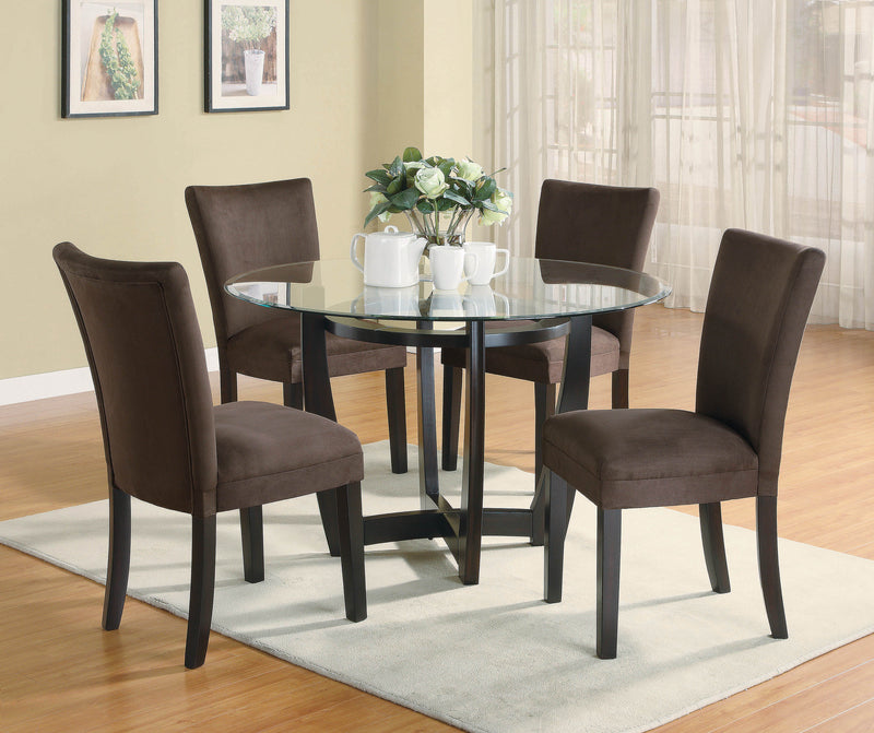Bloomfield Cappuccino Round Dining Table Base - What A Room Furniture