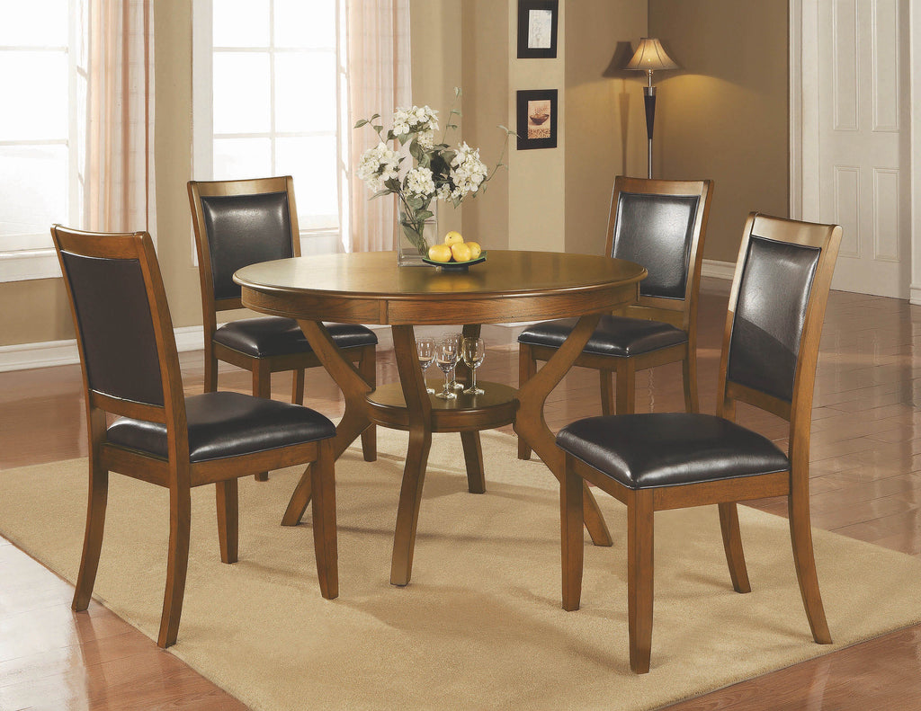 Nelms Casual Deep Brown Dining Table - What A Room Furniture