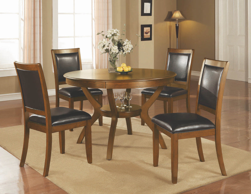 Nelms Casual Deep Brown Dining Table - What A Room