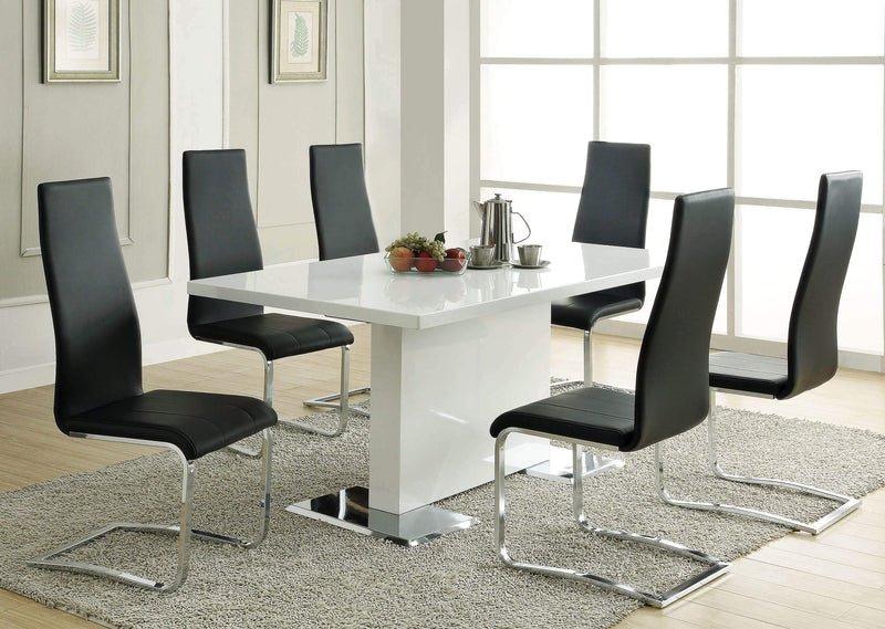Nameth Contemporary White Dining Table - What A Room
