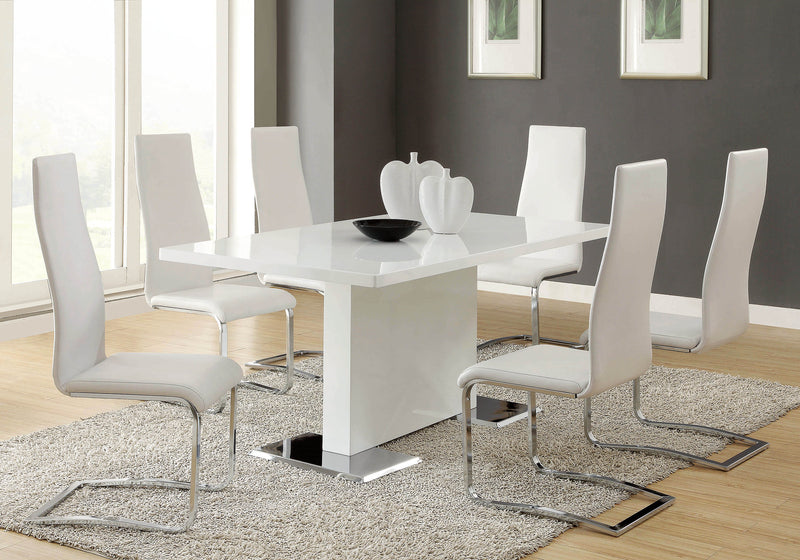 Nameth Contemporary White Dining Table - What A Room Furniture
