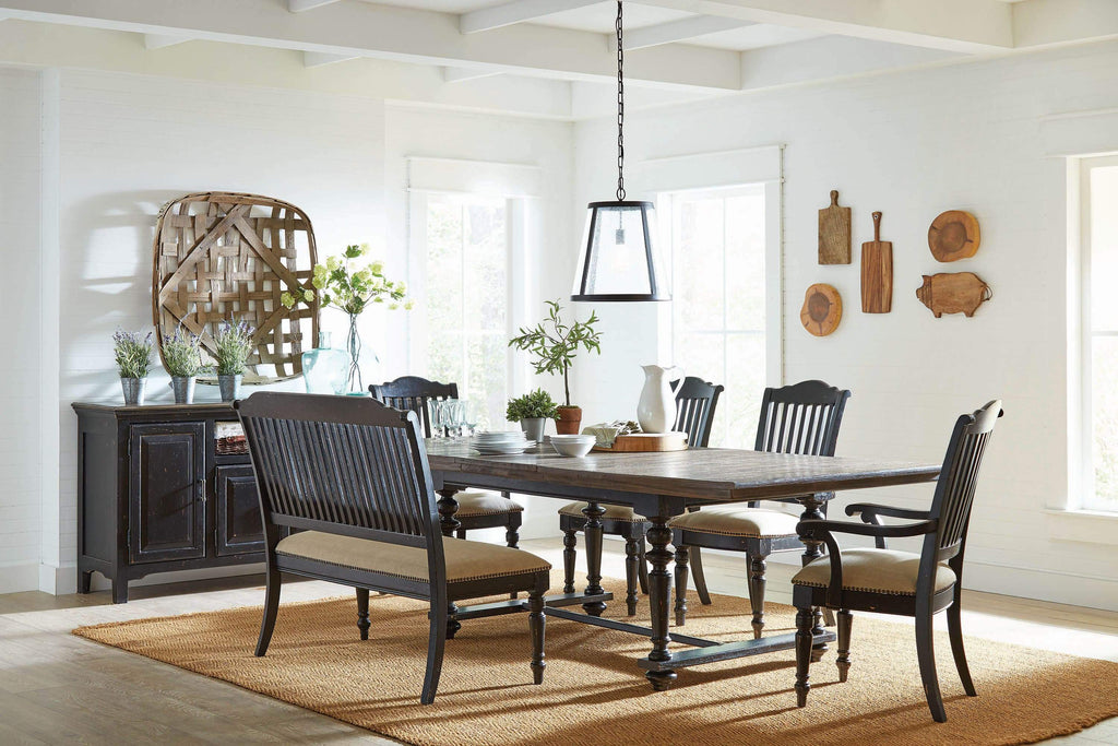 Simpson Rectangular Dining Table Latte and Vintage Black - What A Room Furniture