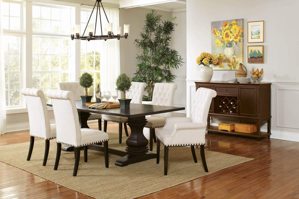 Parkins Traditional Rustic Espresso Dining Table - What A Room