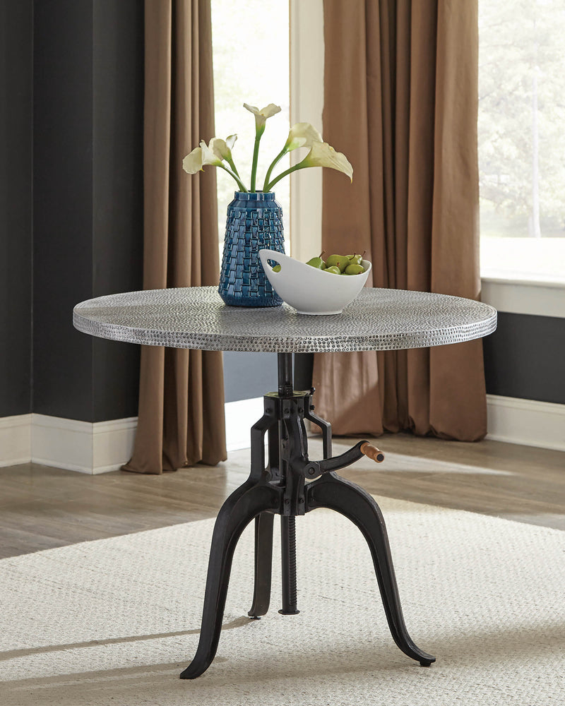 Scott Living Rhea Industrial Black Dining Table - What A Room