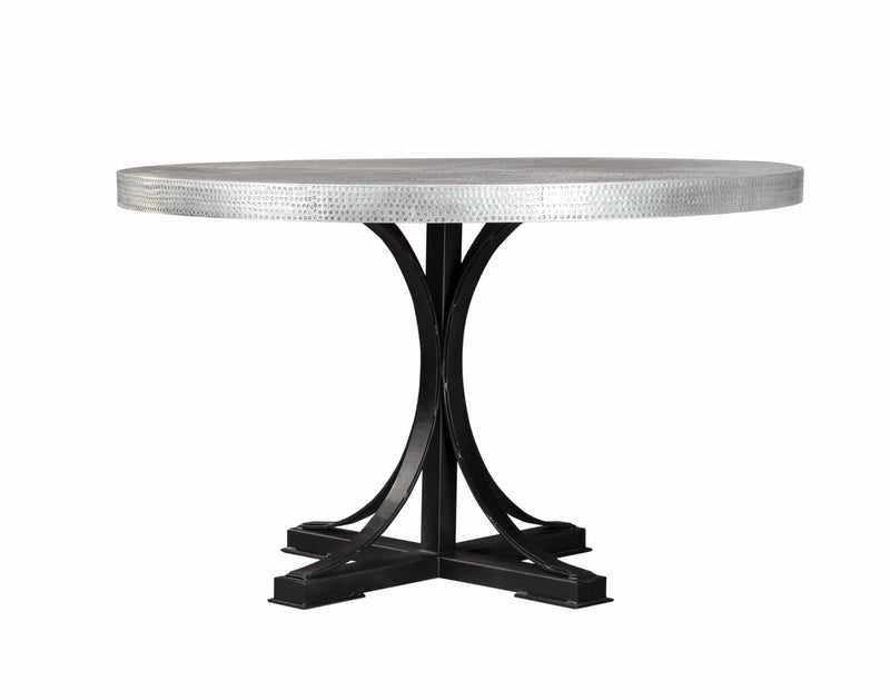 Scott Living Rochelle Bohemian Zinc Dining Table - What A Room Furniture