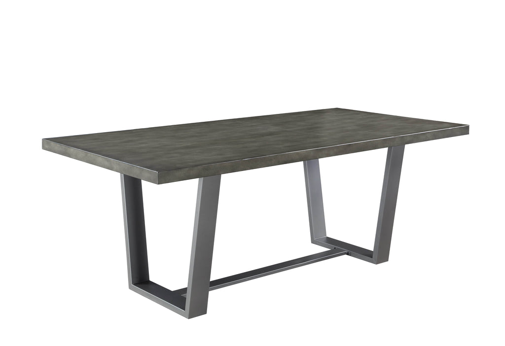 Scott Living Hutchinson Industrial Grey Dining Table - What A Room Furniture