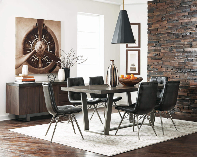 Scott Living Hutchinson Industrial Grey Dining Table - What A Room