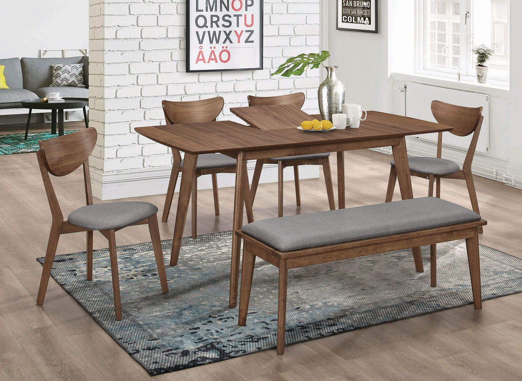 Alfredo Rectangular Dining Table Natural Walnut - What A Room Furniture