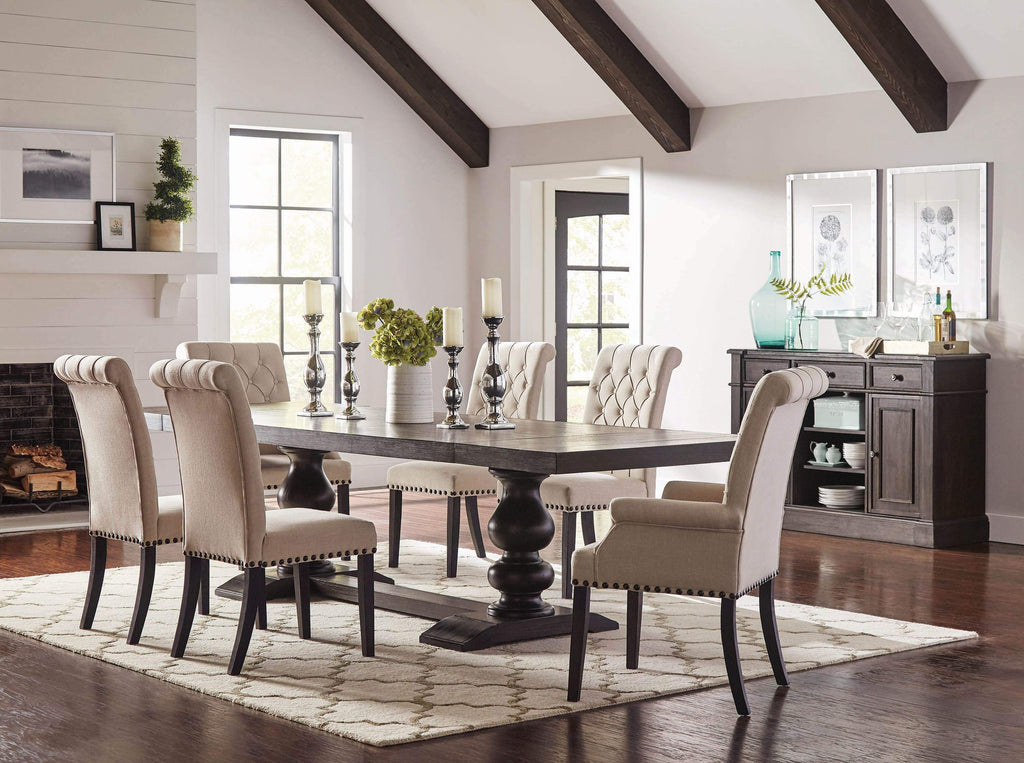 Phelps Traditional Antique Noir Dining Table - What A Room