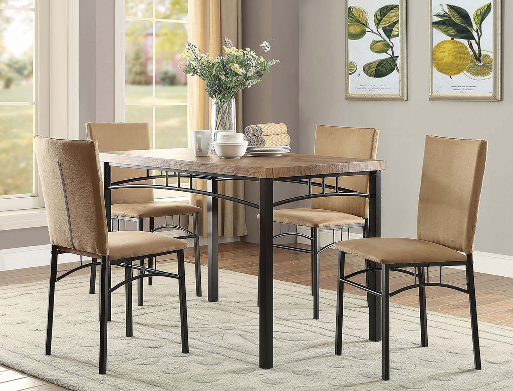 Contemporary Five-Piece Metal Dinette Set - What A Room