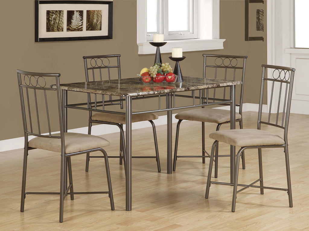 Casual Grey Metal Five-Piece Dining Set - What A Room