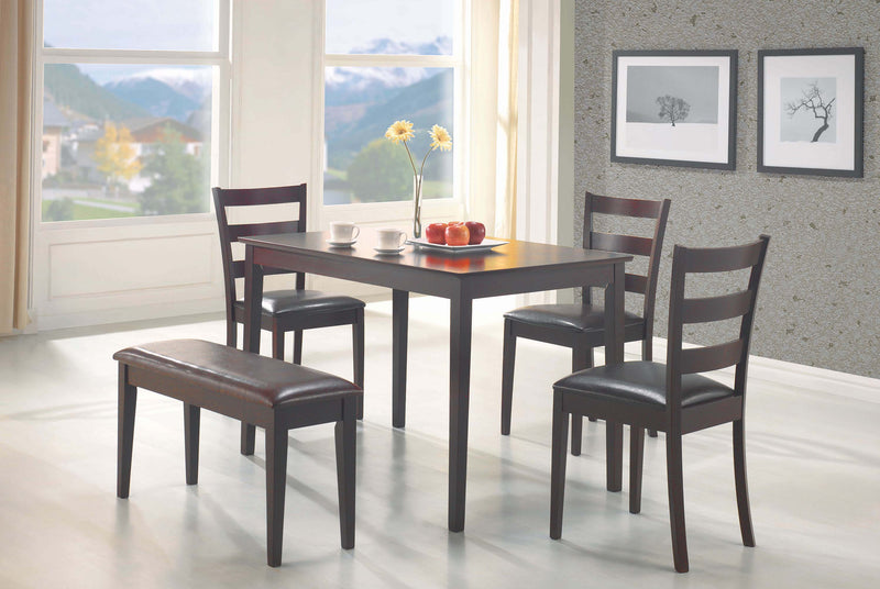Casual Grey Metal Five-Piece Dining Set