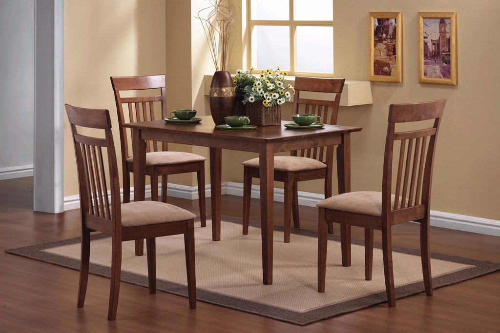 Casual Chestnut Five-Piece Dining Set - What A Room