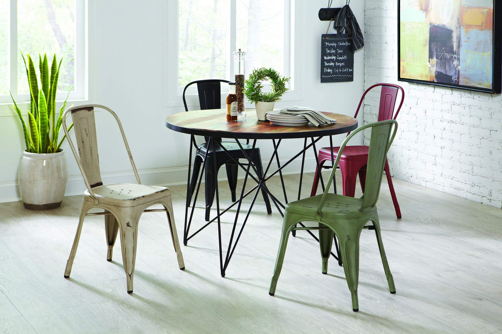 Ridgecrest Industrial Reclaimed Wood Dining Table - What A Room Furniture
