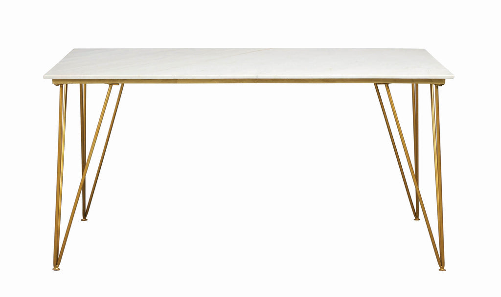 Anastasia Rectangular Dining Table White and Gold - What A Room Furniture