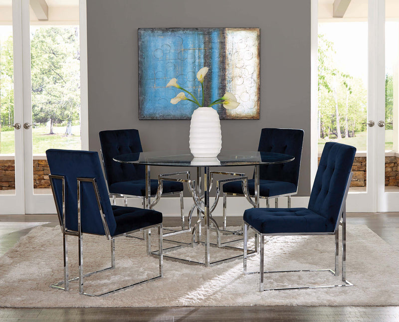 Scott Living Modern Chrome Dining Table Base - What A Room