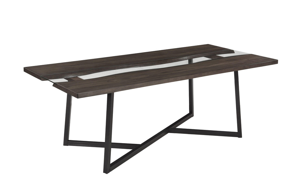 Scott Living Industrial Chocolate Dining Table - What A Room Furniture