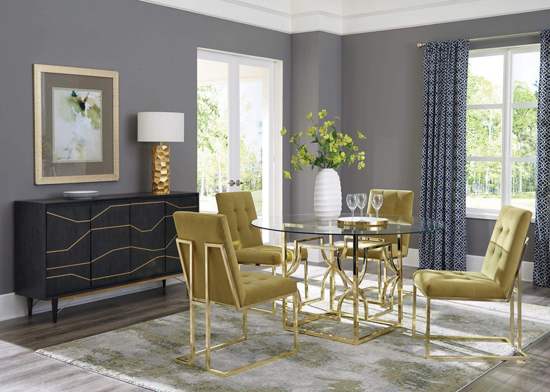 Scott Living Modern Gold Dining Table Base - What A Room Furniture