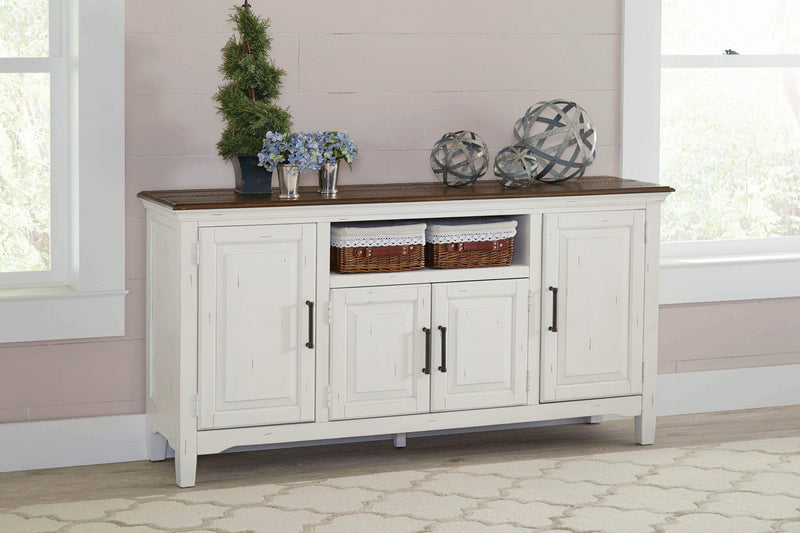 Simpson 4-door Server Vintage Latte and Vintage White - What A Room Furniture