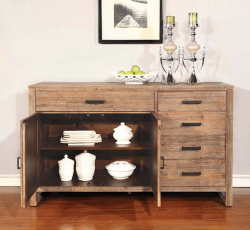 Elmwood Rustic Wire Brushed Nutmeg Server - What A Room
