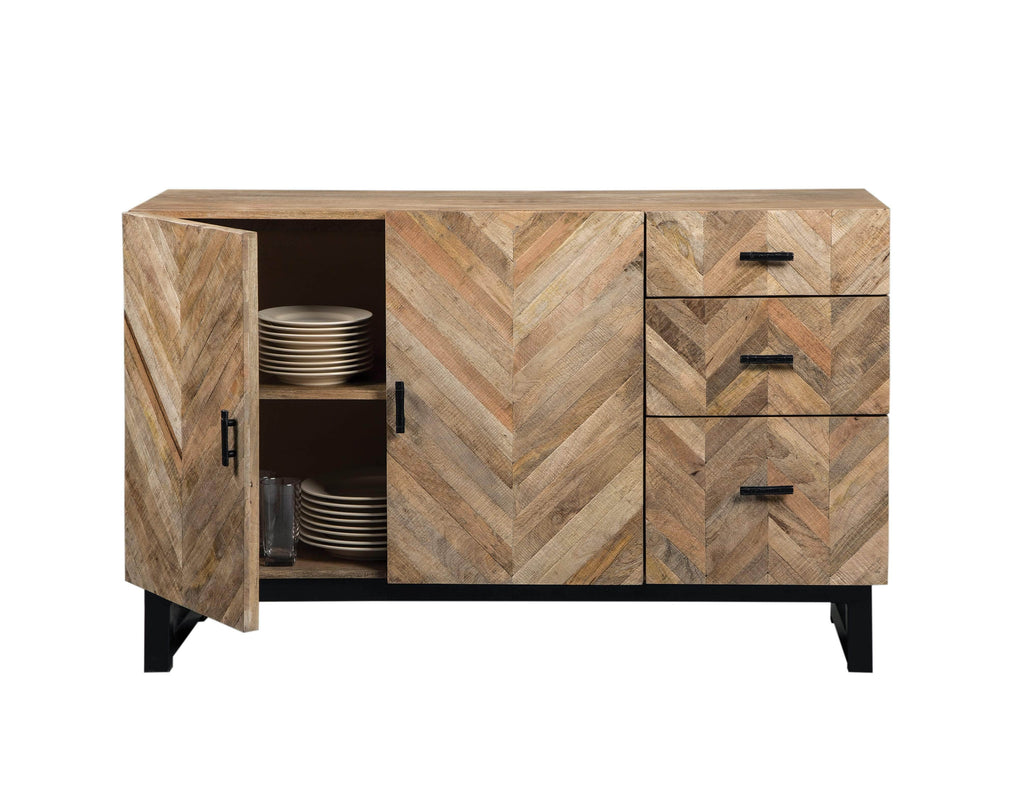 Scott Living Thompson Industrial Mango Wood Server - What A Room Furniture