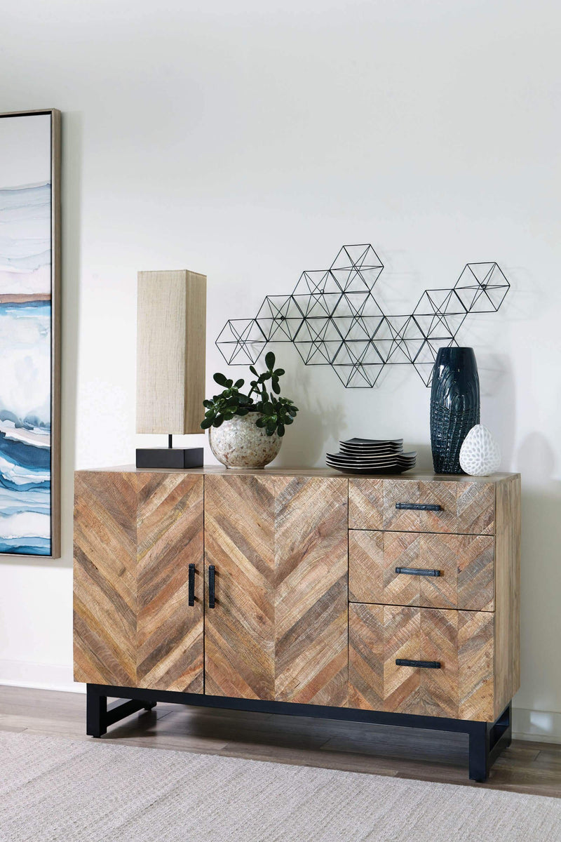 Scott Living Thompson Industrial Mango Wood Server - What A Room