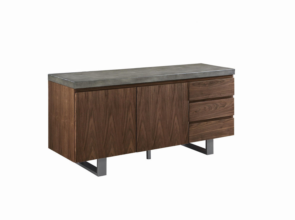 Scott Living Hutchinson Industrial Grey Server - What A Room Furniture