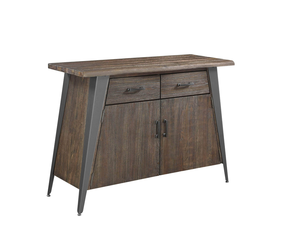Scott Living Fremont Industrial Dark Rustic Brown Server - What A Room Furniture
