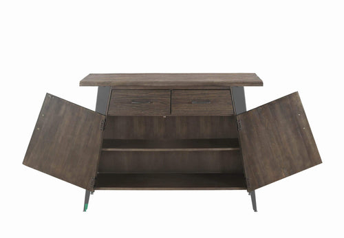 Scott Living Fremont Industrial Dark Rustic Brown Server - What A Room