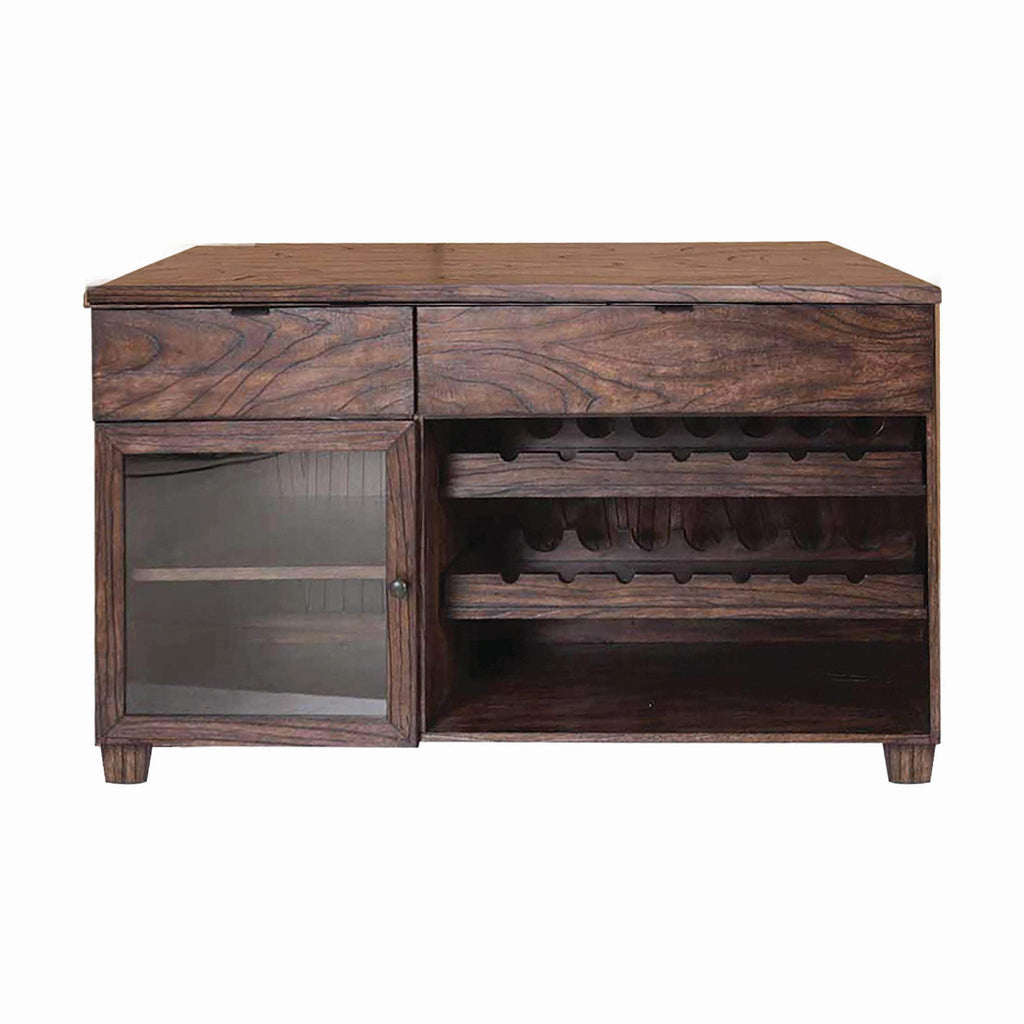 Calabasas Dark Brown Server With Removable Wine Rack - What A Room