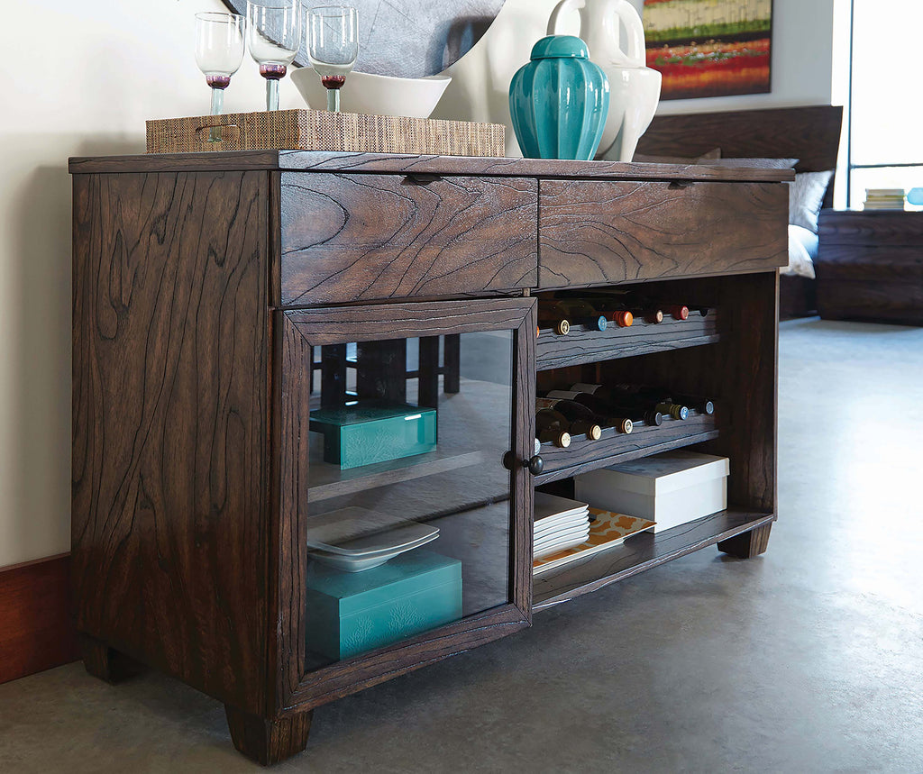 Calabasas Dark Brown Server With Removable Wine Rack - What A Room Furniture