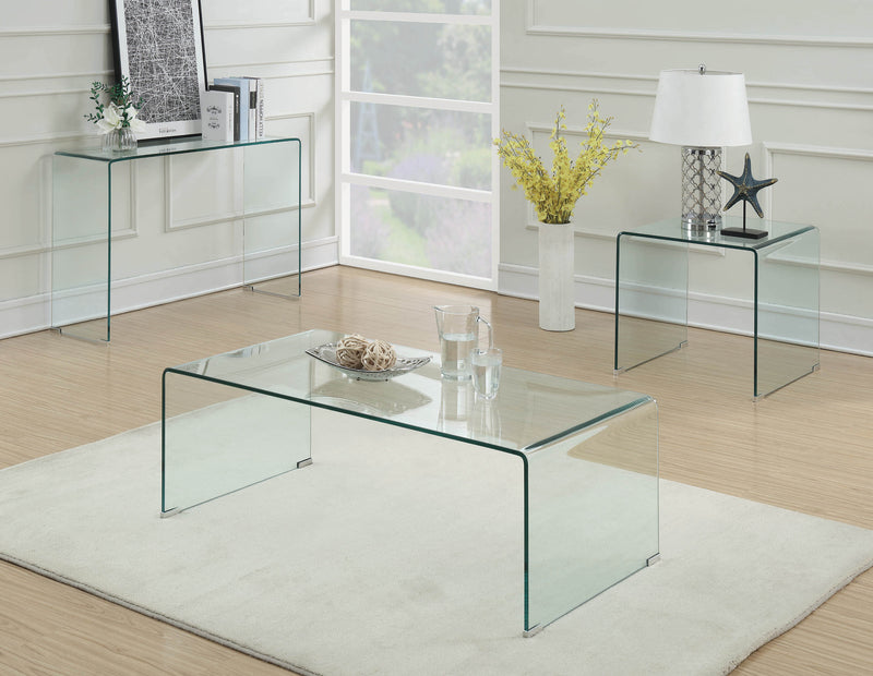 Contemporary Clear Sofa Table - What A Room Furniture