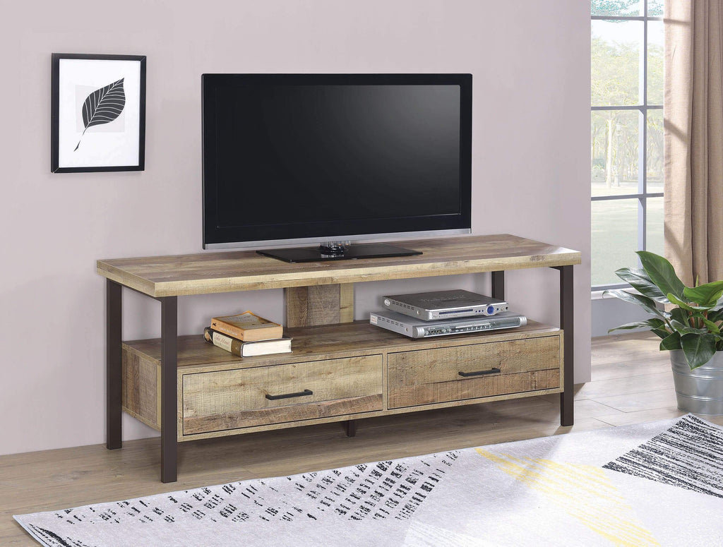"Rustic Weathered Pine 48"" TV Console - What A Room Furniture"