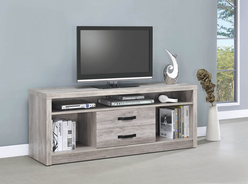 Modern Grey Driftwood TV Console - What A Room Furniture