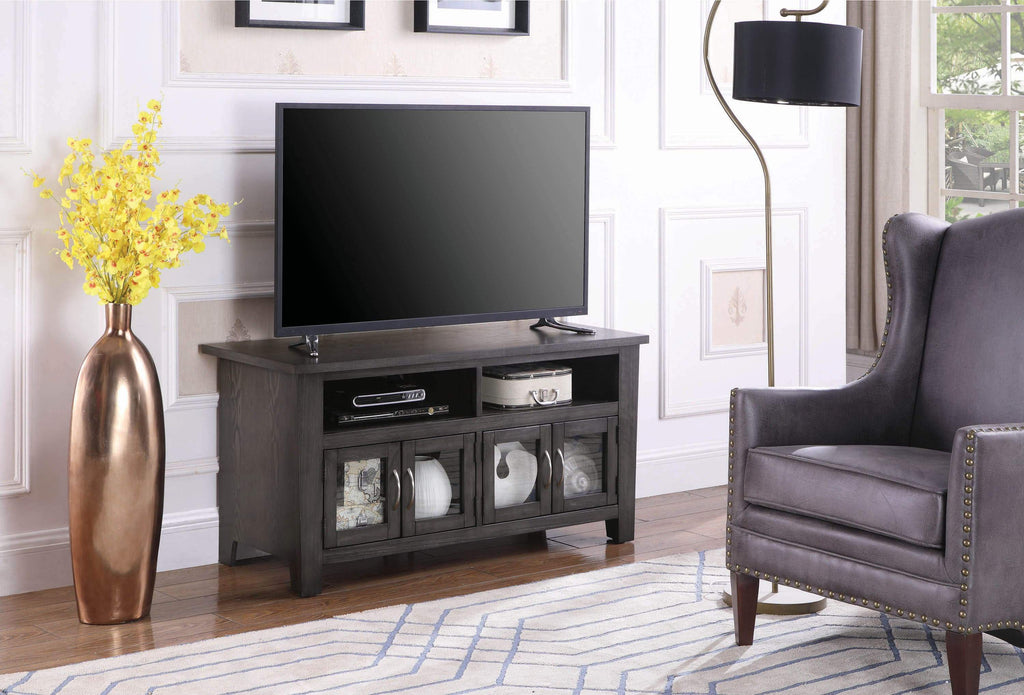 "Transitional Dark Grey 72"" TV Console - What A Room Furniture"
